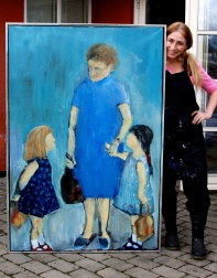 My Grandmother, sister and me (sold)