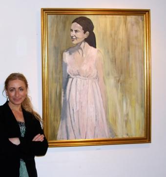Portrait of Crown Princess Mary of Denmark. Now in Amalienborg Palace, Copenhagen