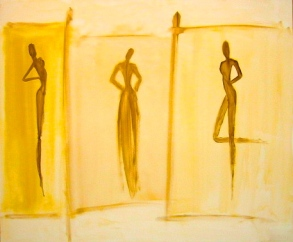 Three Golden Silhouettes - sold