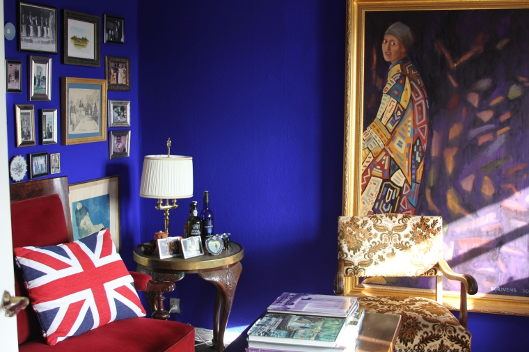 Even my office is blue!