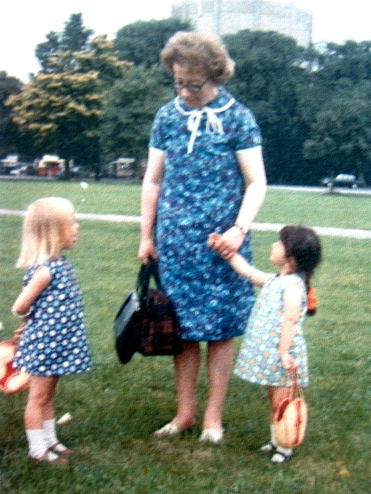 Original photograph 1967 Me, Nanny and little sis on The Downs, Bristol