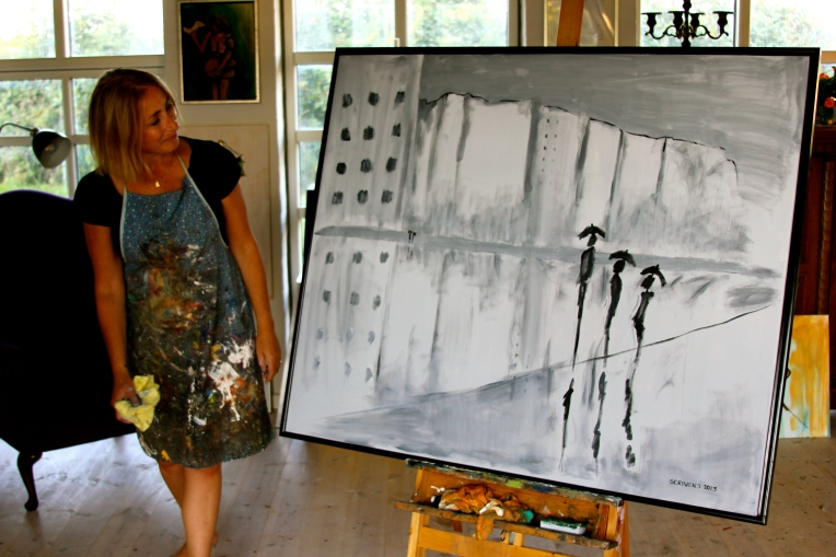 Painting Silhouettes in the studio
