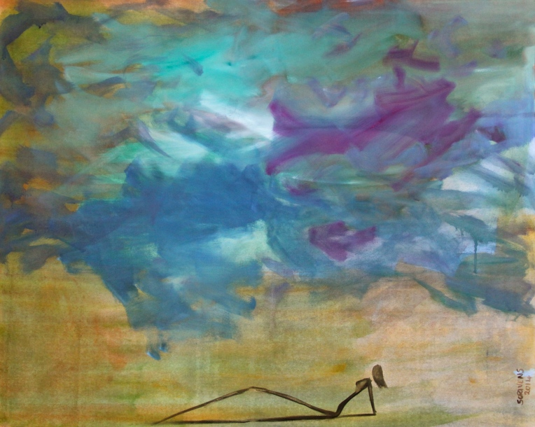 Under the Cloud (oil on canvas) - Katherine Scrivens Eje