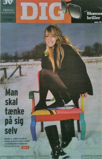 'Woman in the Chair' ©Jydske Veskysten Magazine interview 2010 Photo: Timo Battefeld
