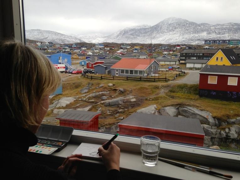 Katherine in Nuuk, Greenland