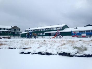 School, Nuuk Streetscene