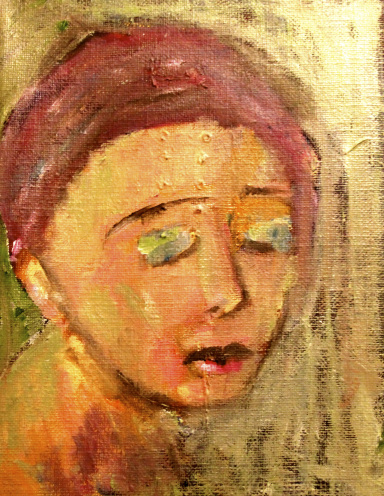 'Little Face' oil on canvas Katherine Scrivens Eje