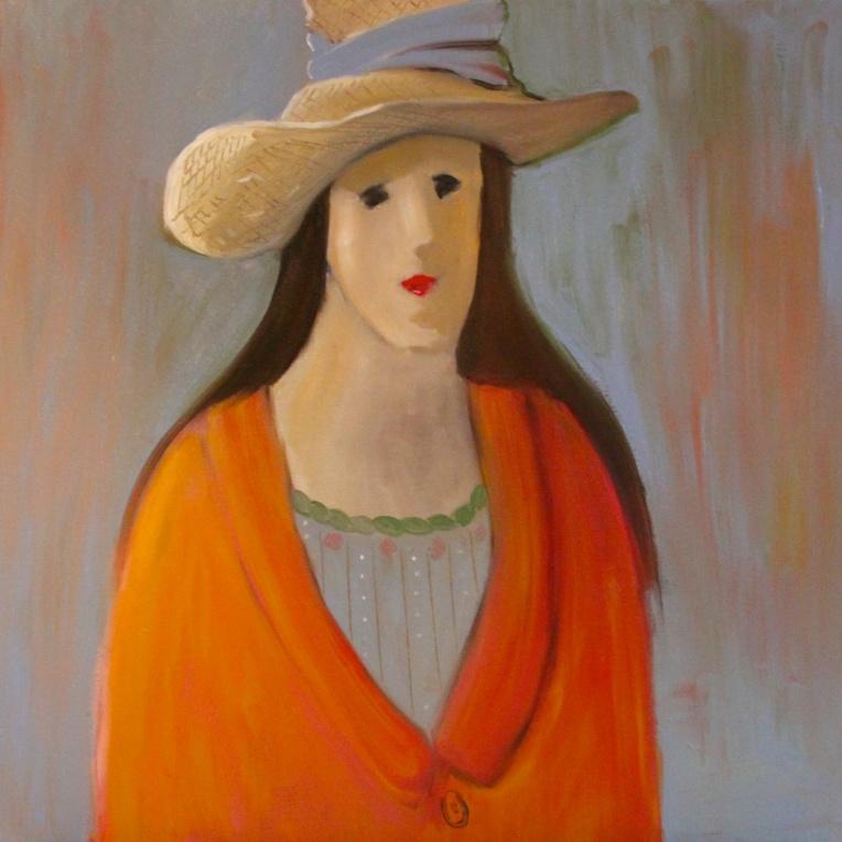 'Woman in Orange Coat'
