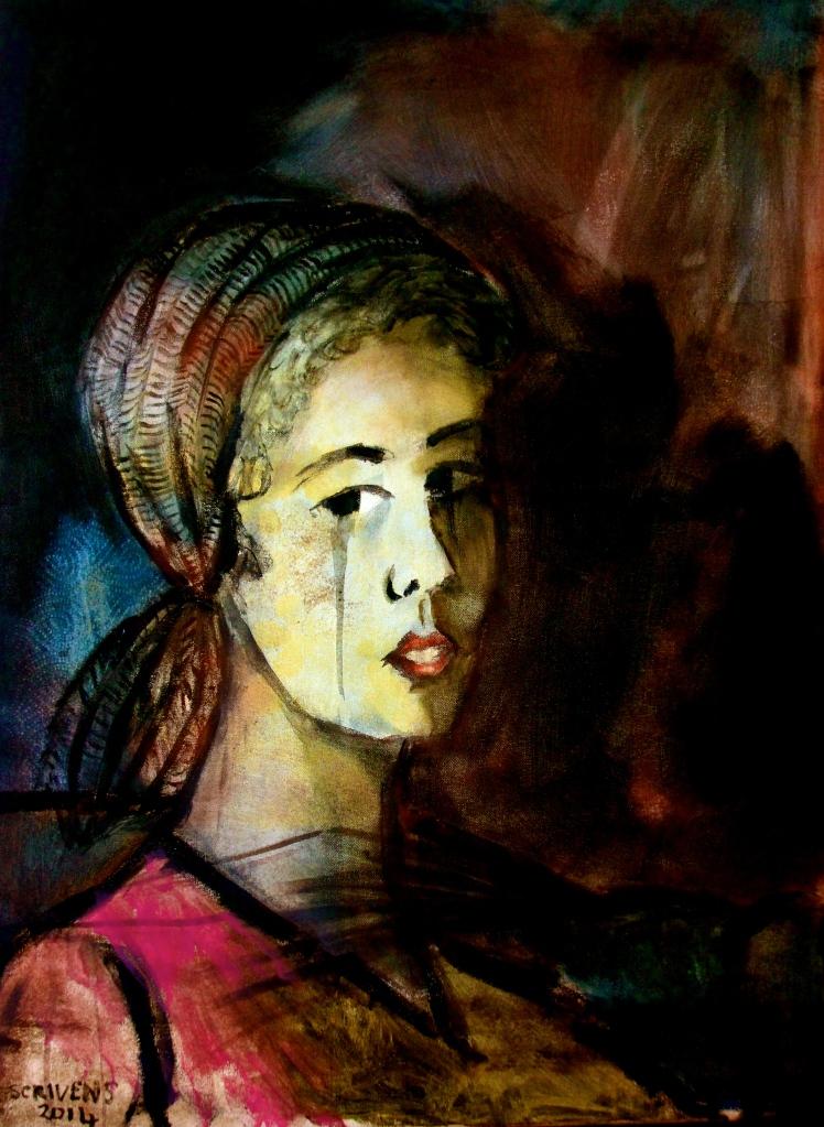 'The Tear' oil on canvas 60x80cm - Katherine Scrivens