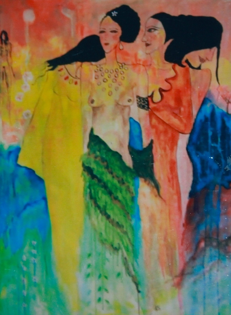 'Women' Acrylic on canvas - Katherine Scrivens