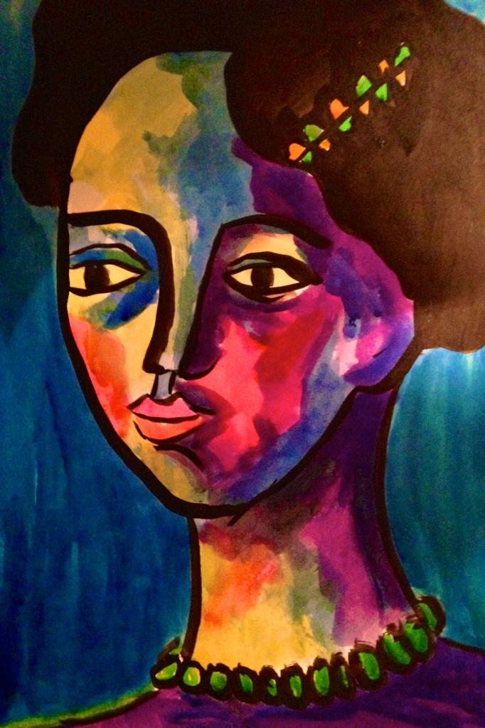 'The Aristocrat' - ink on paper - Katherine Scrivens