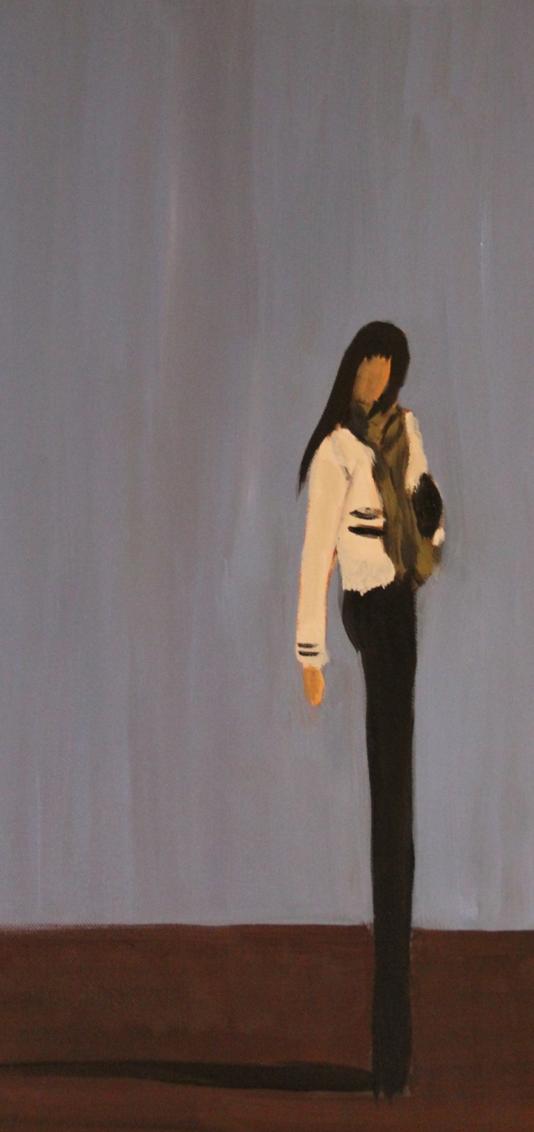 'The Little Jacket' oil on canvas 30x60cm