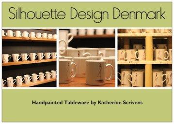 Silhouette Design Denmark Hand Painted Tableware