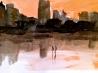 Orange City - watercolor on paper