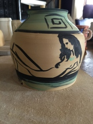 Ceramic with woman