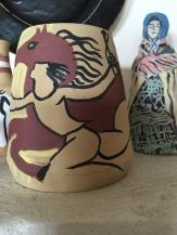 Ceramic with horse