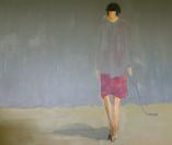 Self-portrait - acrylic on canvas 150x120 cm DKR 12.000,00