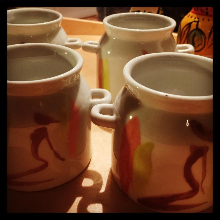 Little handpainted sugar bowls