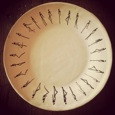 Plate with Silhouettes