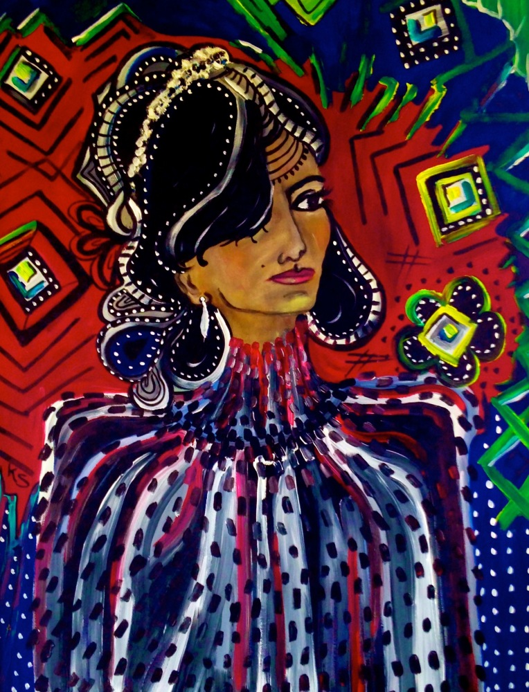Beauty, oil & acrylic (sold)