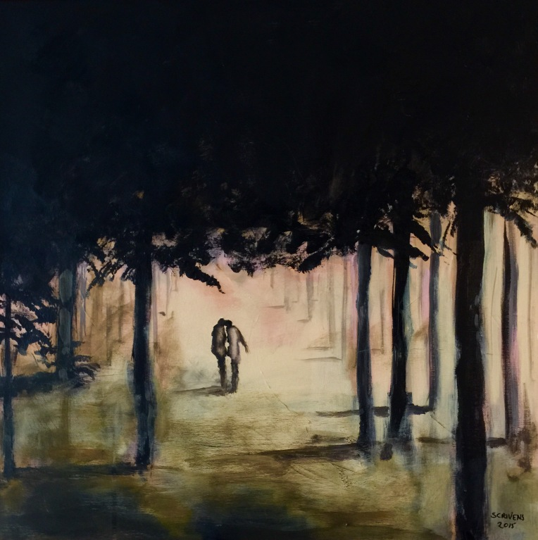 'Walk in the woods' acrylic on canvas 50x50cm