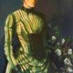 Girl in a green dress