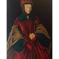 Girl in red velvet