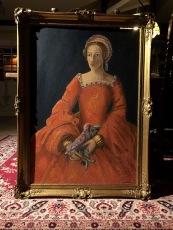 Girl in orange dress