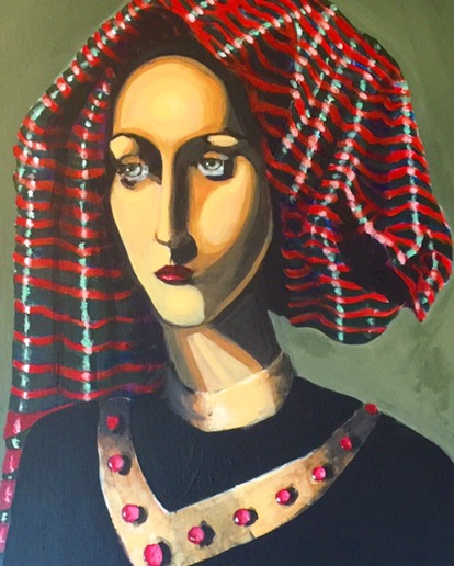 Woman with headscarf
