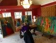 Katherine in her studio
