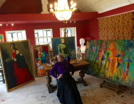 Katherine in her studio