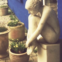 New sculpture in our garden