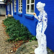 Katherine's decorated garden statue